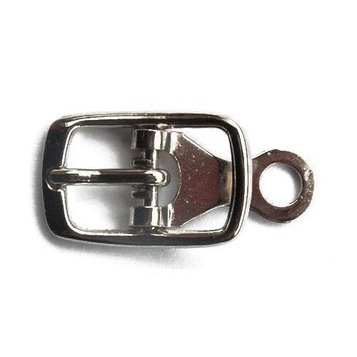 3M13058 - Fibbia in ferro mm.10 con piastrina