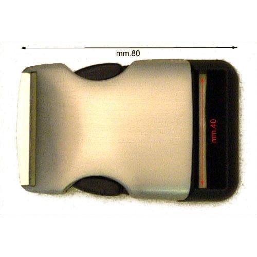 3M26119 - Fibbia incastro mm.40 zama e plastica