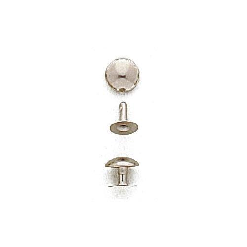 3M37TS - Rivetto 037 in ferro testa a sfera. Misure lunghezza olgo mm.10,2 - diametro testa mm.14