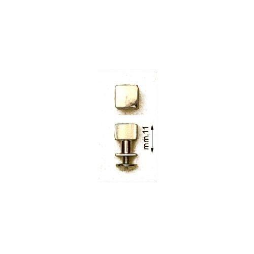 3M25916 - Gemello in ottone testa quadra mm.8 con vite in ferro mm.3x5