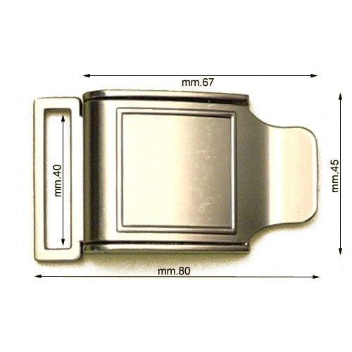 3M26488 - Fibbia a sgancio rapido mm.40
