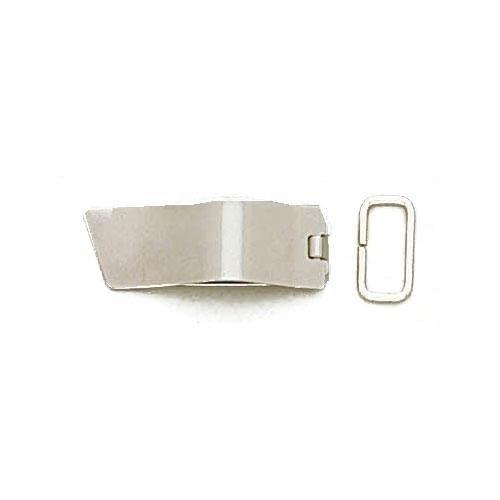 3M7890 - Clips in ferro con anello rettangolare mm.18