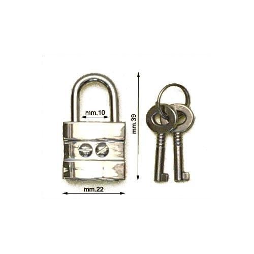 3M26379 - Lucchetto in zama con chiavi
