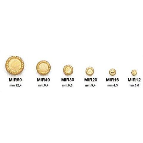 3MMIR-SERIE - Borchie in ottone serie MIR con alette