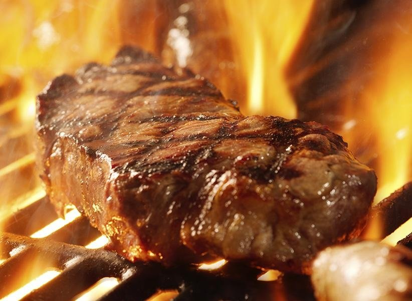 bistecca cotta alla brace