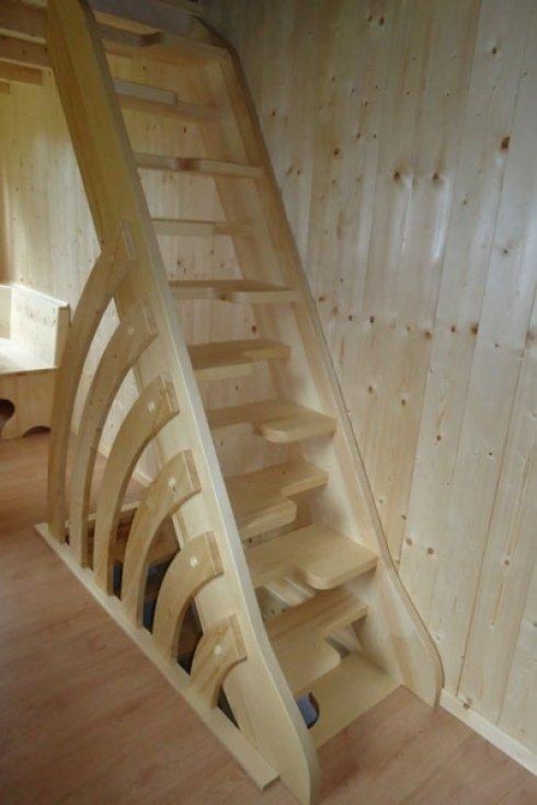 Scala rustica in legno