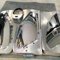 componente metallica dopo lappatura