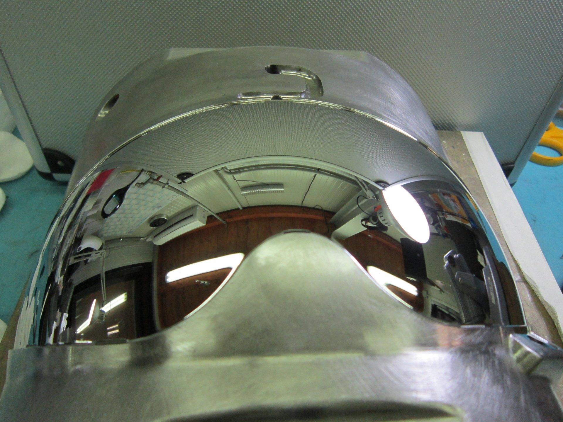 superficie metallica dopo trattamento di lucidatura
