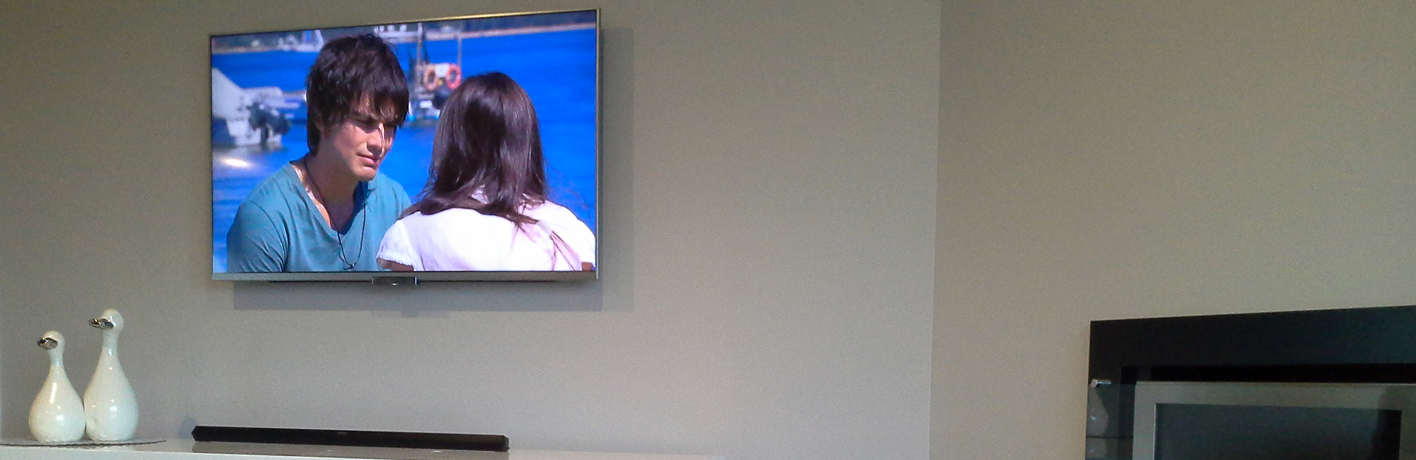 Wall mounted TV done by experts from Brendans Home Audio Visual