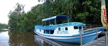 Kalimantan, Tanjung Puting Nationalpark, Boot Klotok