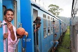 Sri Lanka Reise Zugfahrt