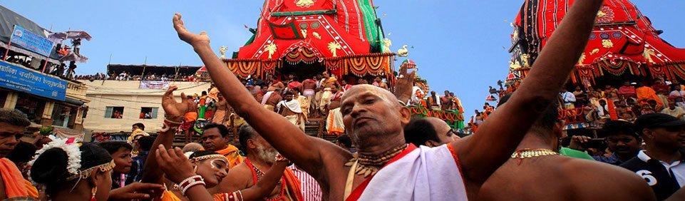 Fest in Puri, Ostindien