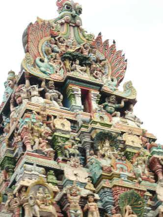 Südindien Reise Gopuram Tempel