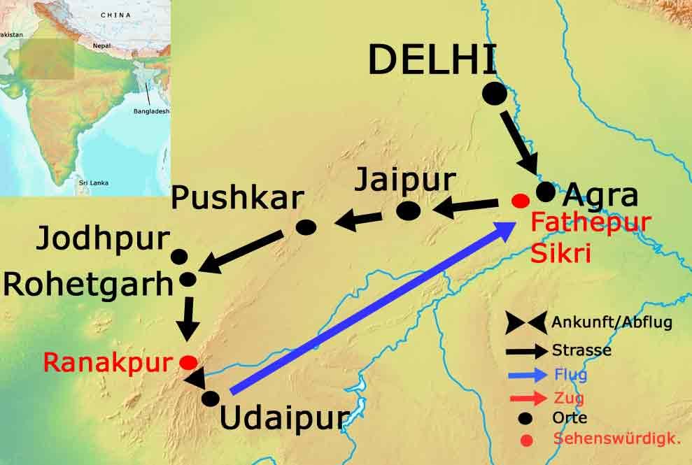 Indien Rundreise Delhi, Agra, Jaipur, Varanasi