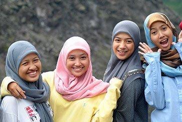 Indonesien Mädchen bei Java Rundreise