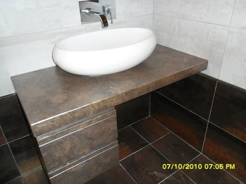 Un lavabo a forma ovale