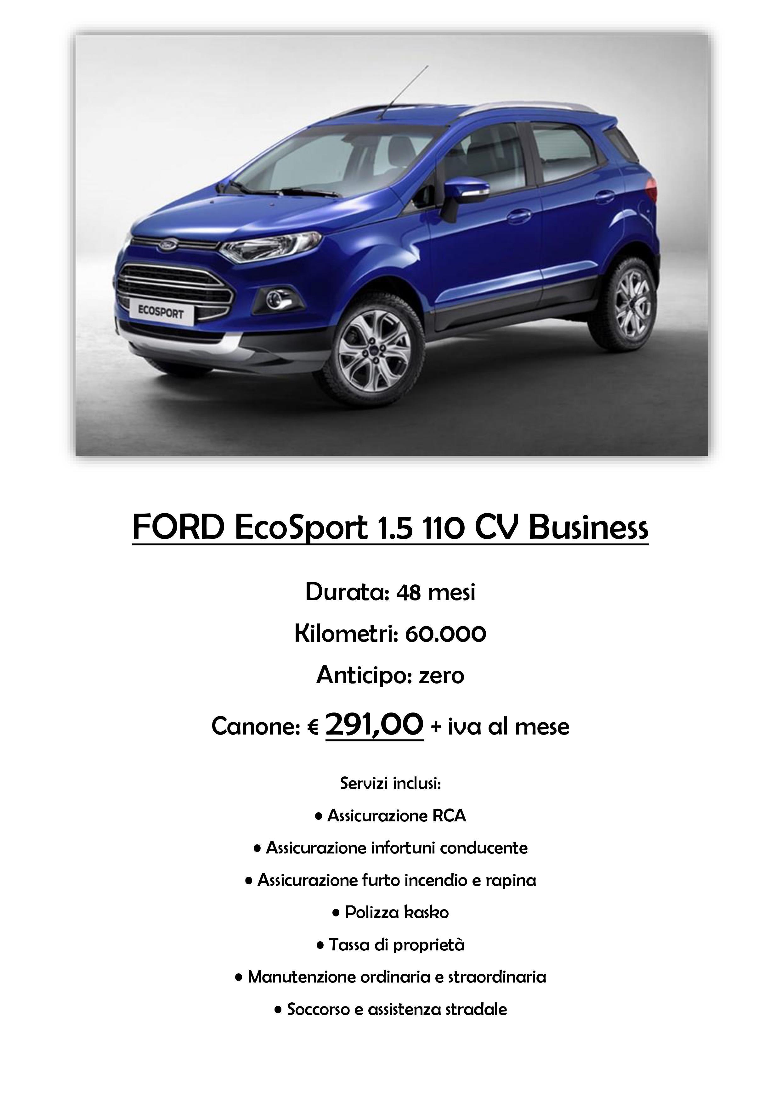 Promozione Ford Ecosport