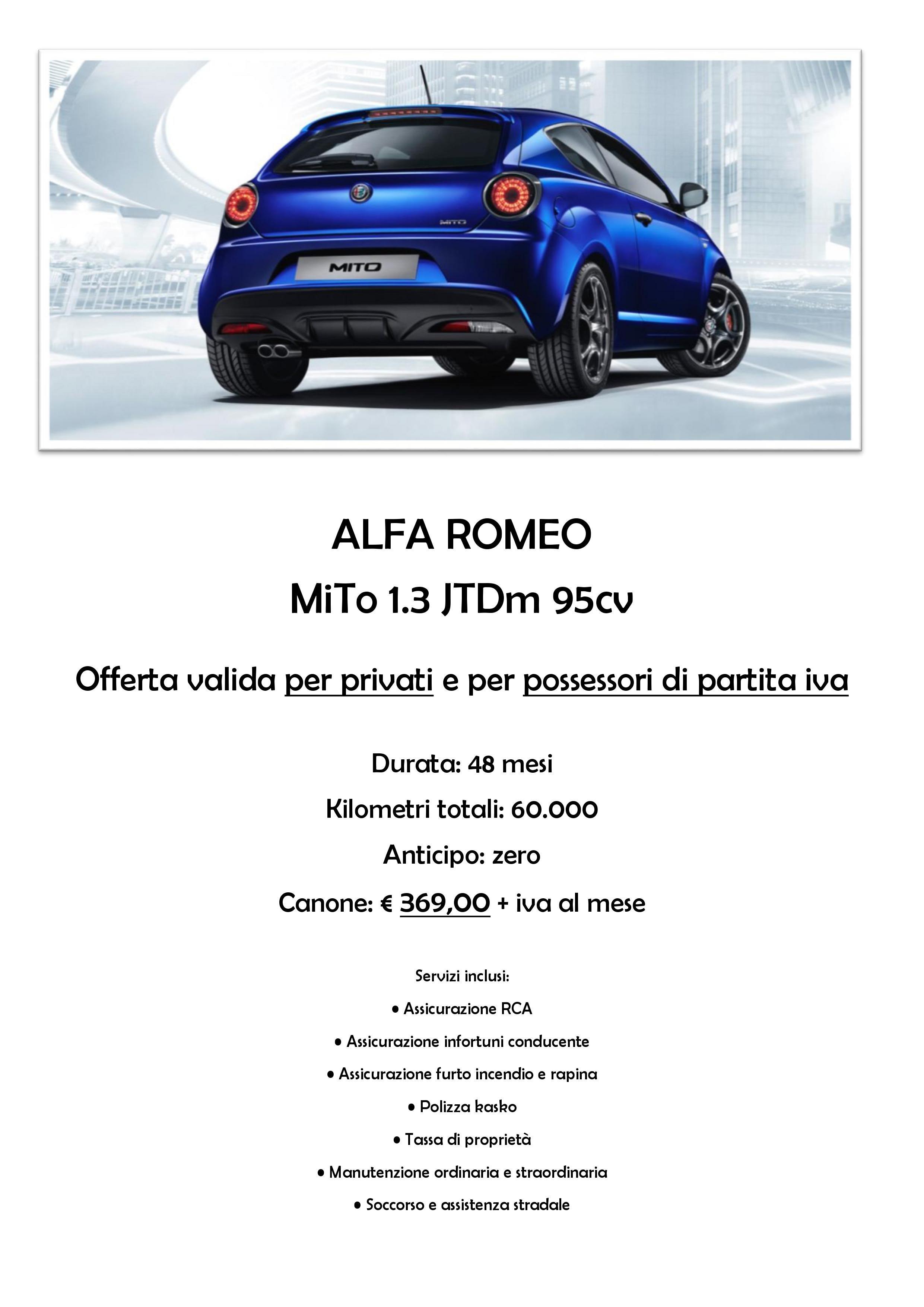 Promozione Alfa Romeo Mito