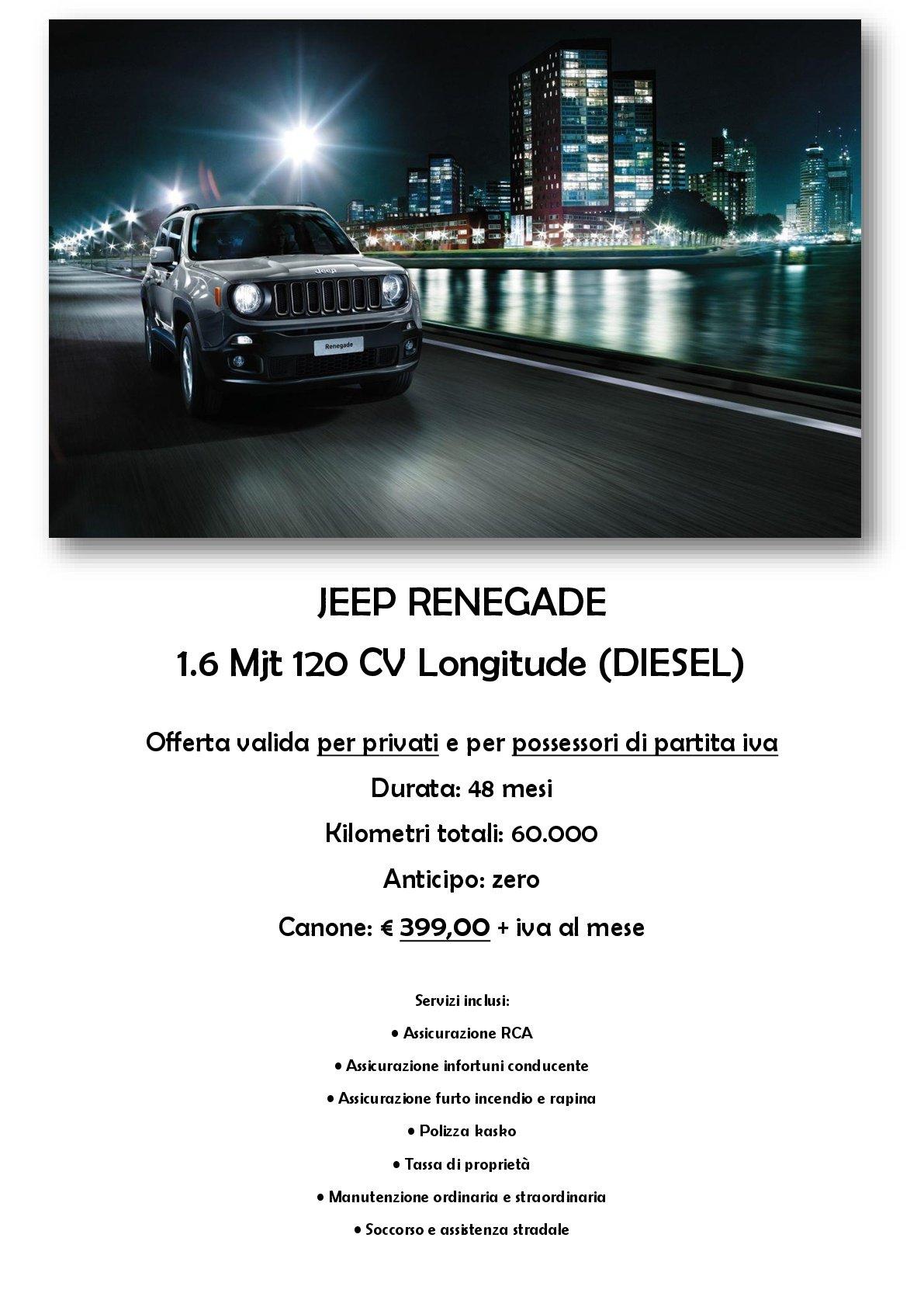 Promozione Jeep Renegade
