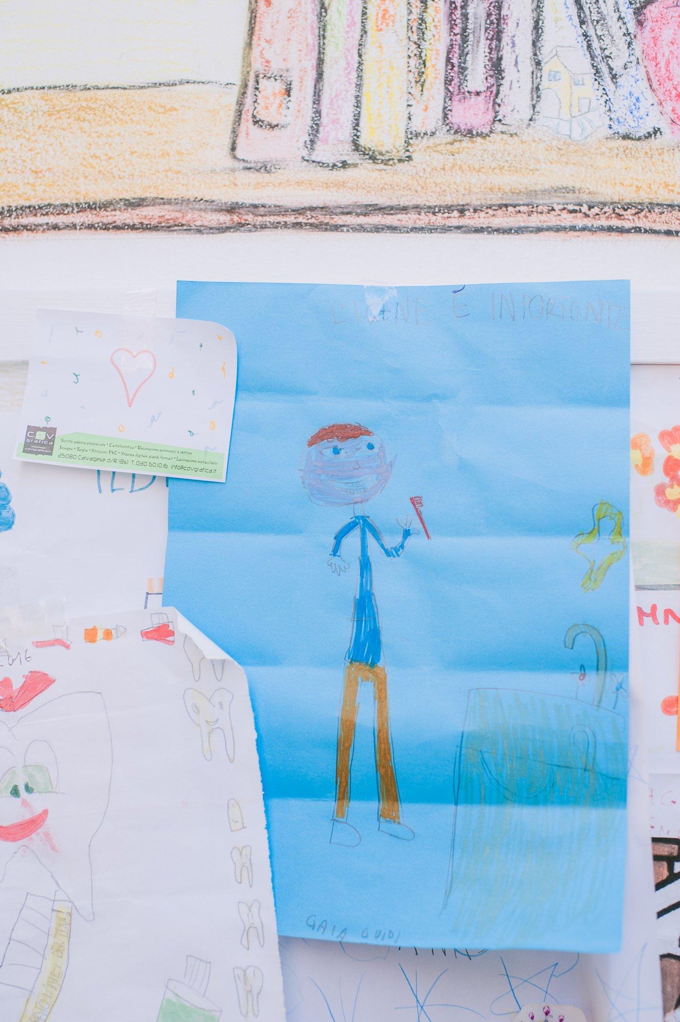 disegno fatto da piccoli pazienti