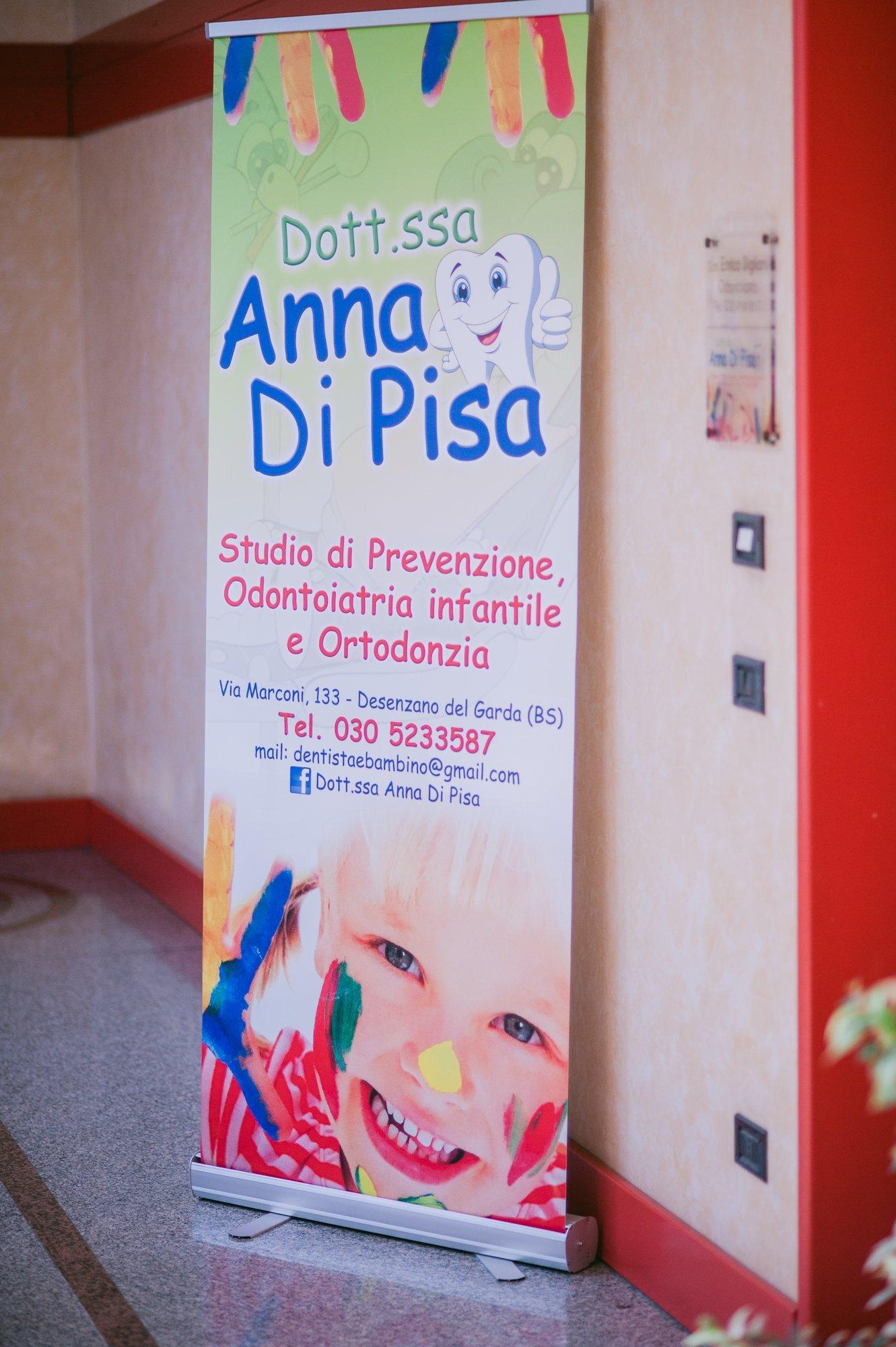 Banner della dentista Anna di Pisa