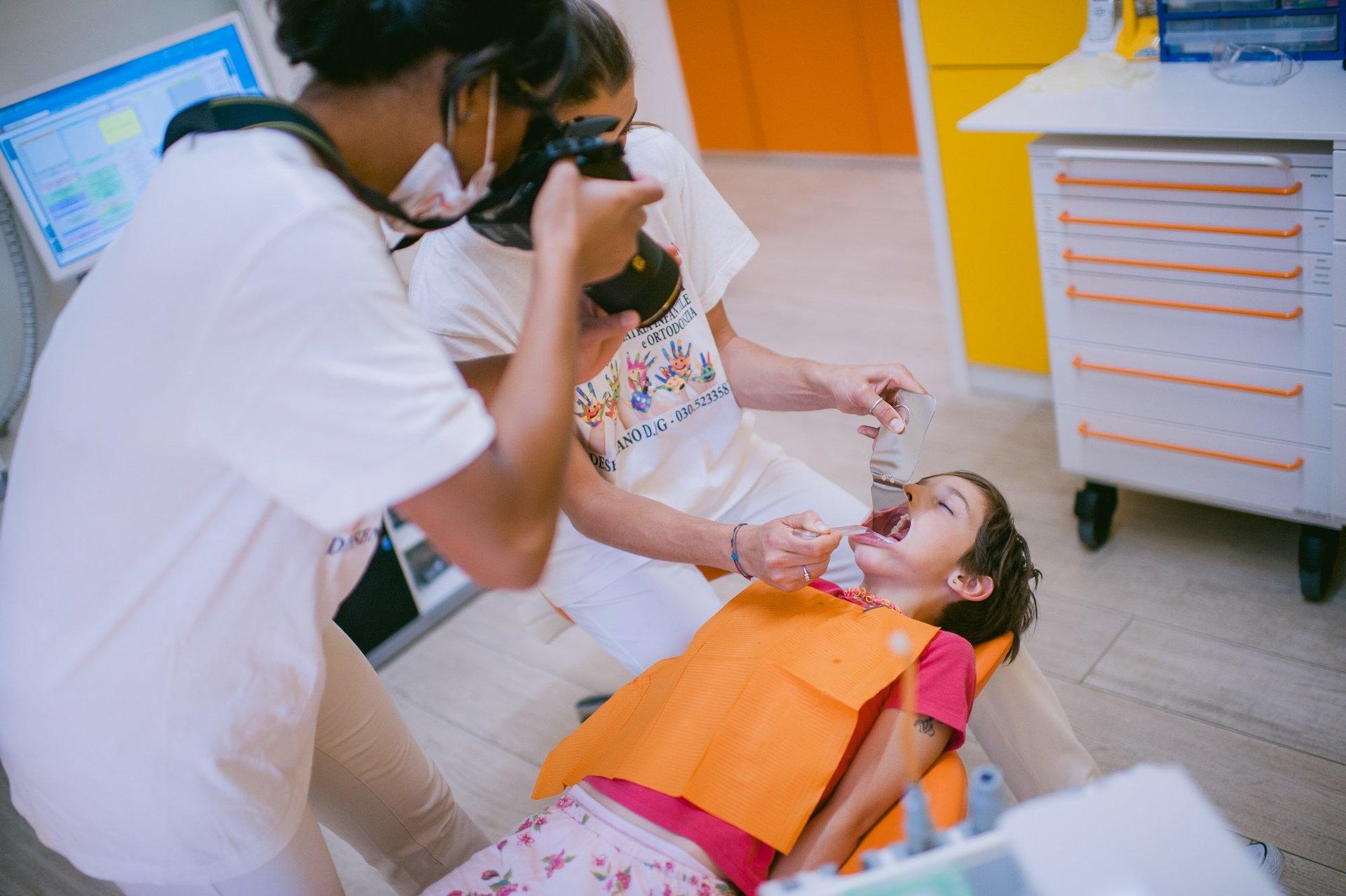 foto denti paziente