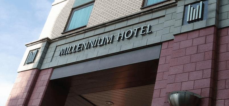 Milllenium Hotel sign