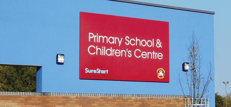primary school sign