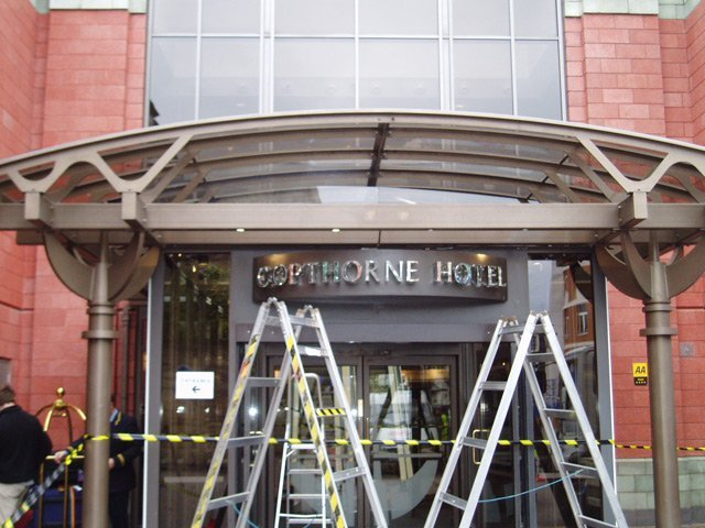 sign for copthorne hotel