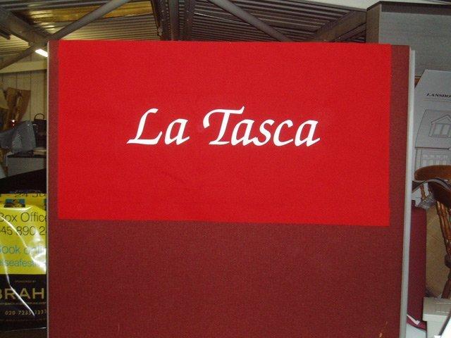 La Tasca Restaurant sign