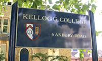 college sign