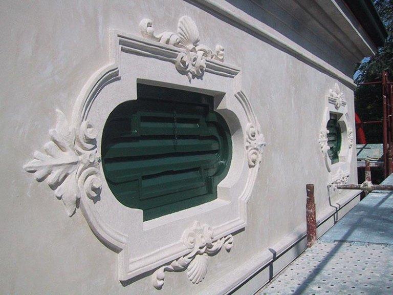 Villa Morosini Bardi, decorazione di forometria dopo l