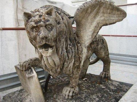 Leone Marciano prima del restauro