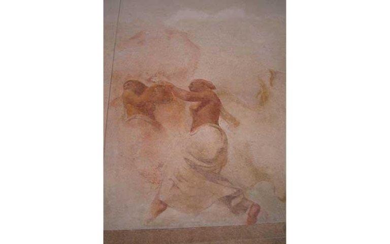 Dipinto del foyer del Teatro Toniolo dopo il restauro
