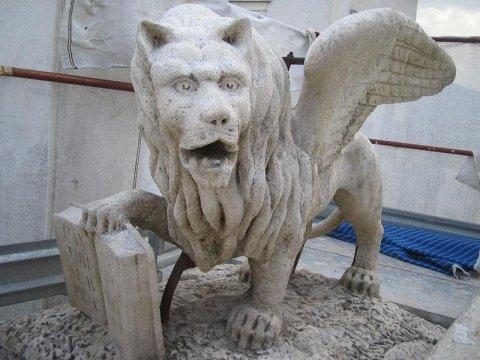 Leone Marciano dopo il restauro