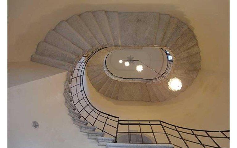 Scala ovale del Massari dopo il restauro