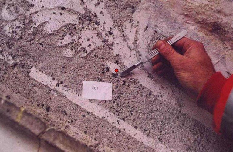 Prelievi per analisi chimico-stratigrafiche