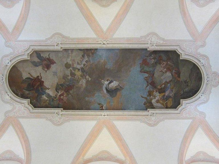 Affresco della navata dopo il restauro