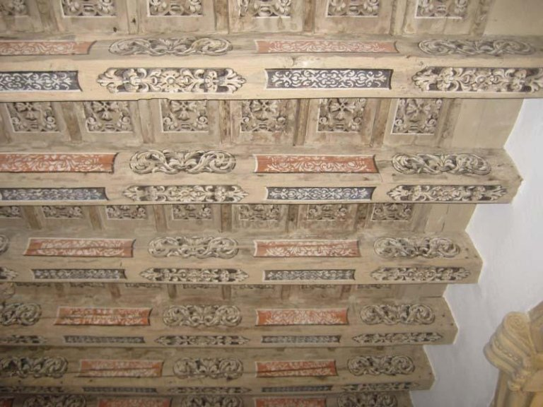 Soffitto ligneo decorato di Villa Zusto a Vigodarzere (PD)