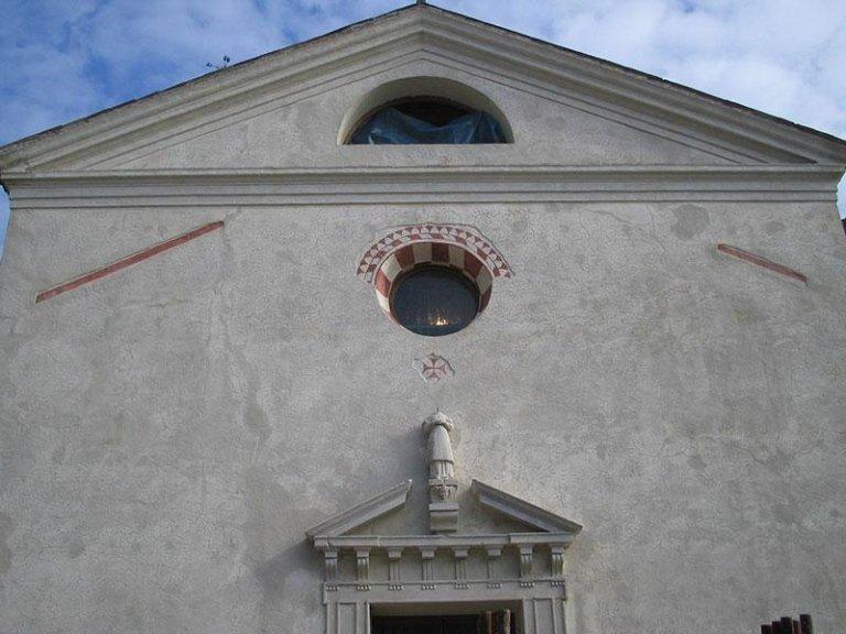 Particolare della facciata dopo il restauro