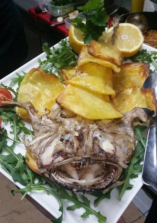 piatto di pesce San Pietro con patate