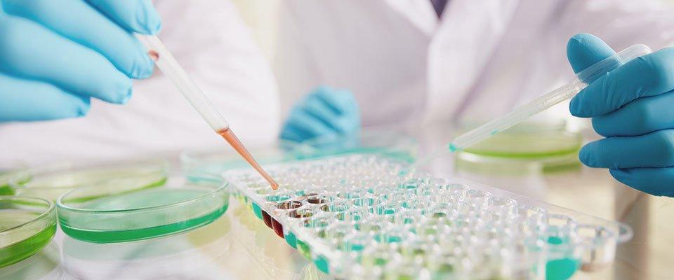 scientist testing tubes