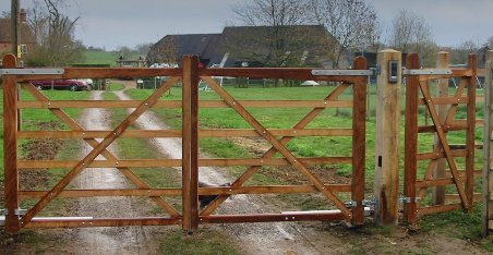 tall and durable wooden field gate
