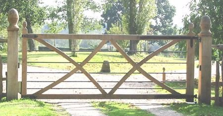 metal and wooden kissing gate
