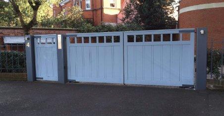 large white wooden gates