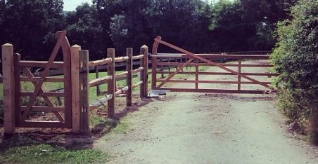 large and wide field gate and fence