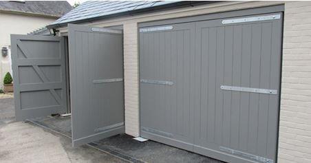 grey painted garage doors