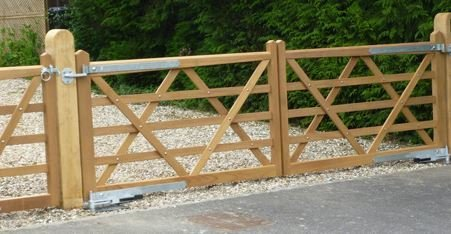 strong and solid wooden field gate