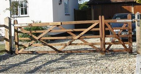 wide wooden field gate