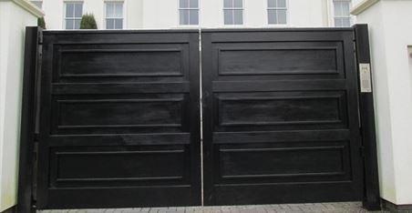 unique wooden board gate